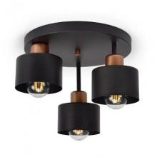 Schwarze Deckenlampe Deckenleuchte 3 Flammig Lampe für Wohnzimmer Schlafzimmer Esszimmer Leuchte 382-e3 Skandi Vintage Esstischlampe E27