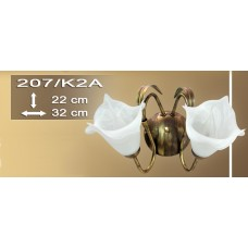 Wandlampe Strauß 207-K2A