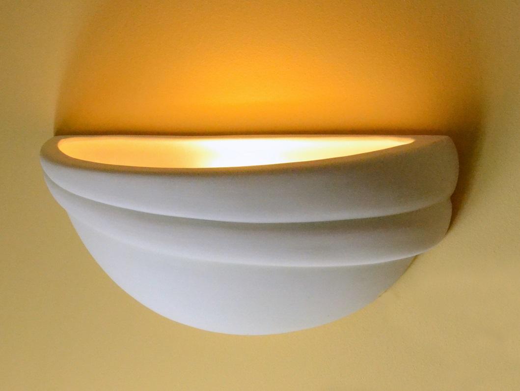 Applique da parete lampada luce bruciatore aurora w ceramica